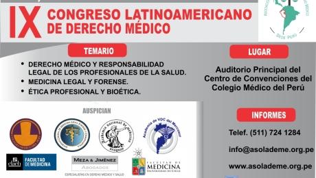 IX Congreso latinoamericano de Derecho Médico