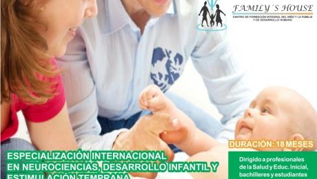 Especialización Internacional en Neurociencias, Desarrollo Infantl y Estimulación Temprana